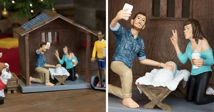 Hipster Nativity Set What Would The Nativity Scene Look