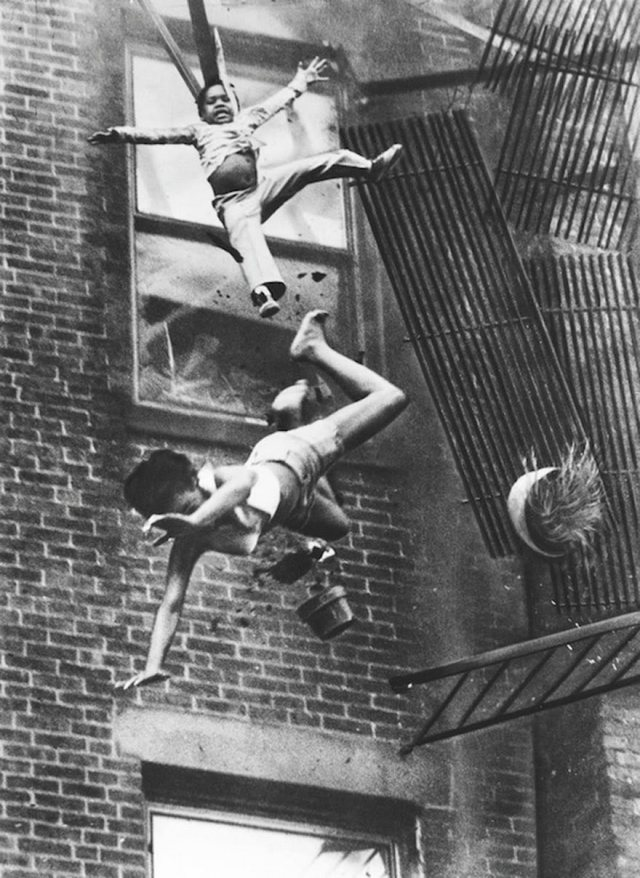 Fire Escape Collapse, Stanley Forman, 1975