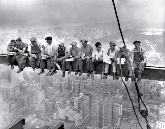 Almuerzo en lo alto de un rascacielos, 1932