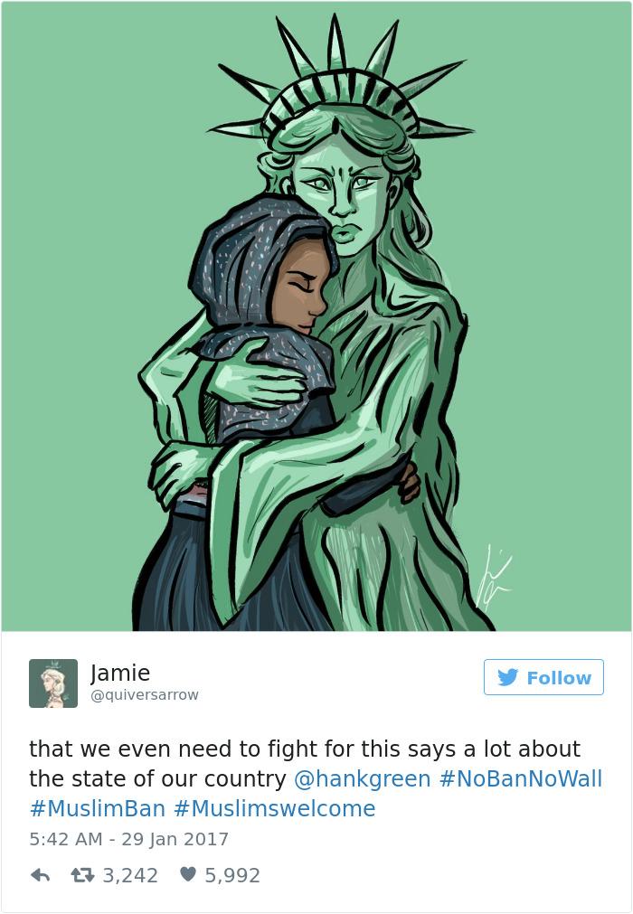 49 Artists Around The World Respond To Trumps Refugee Ban