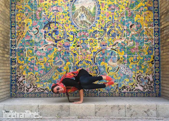 Stile Teheran donne di strada
