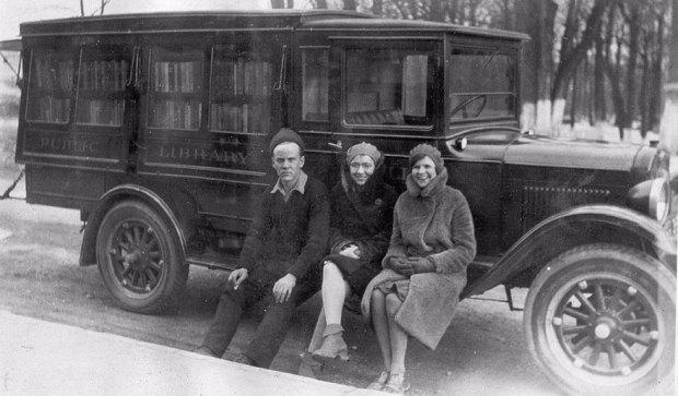 Three Of The Bookmobile Staff, C.1930