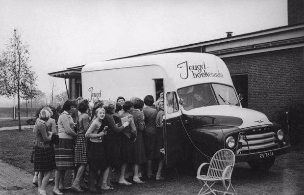 An Impatient Queue For A Dutch Bookmobile