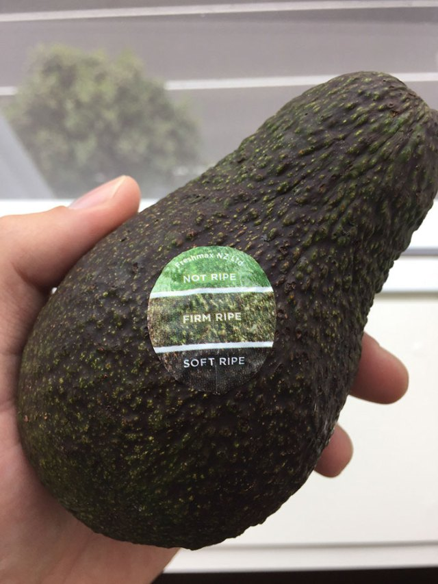 My Avocado Has A Color Chart On The Sticker, So You Know When It's Ripe