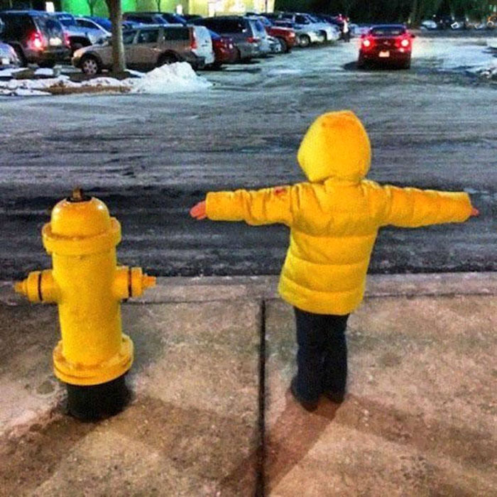 A Boy Or This Fire Hydrant?