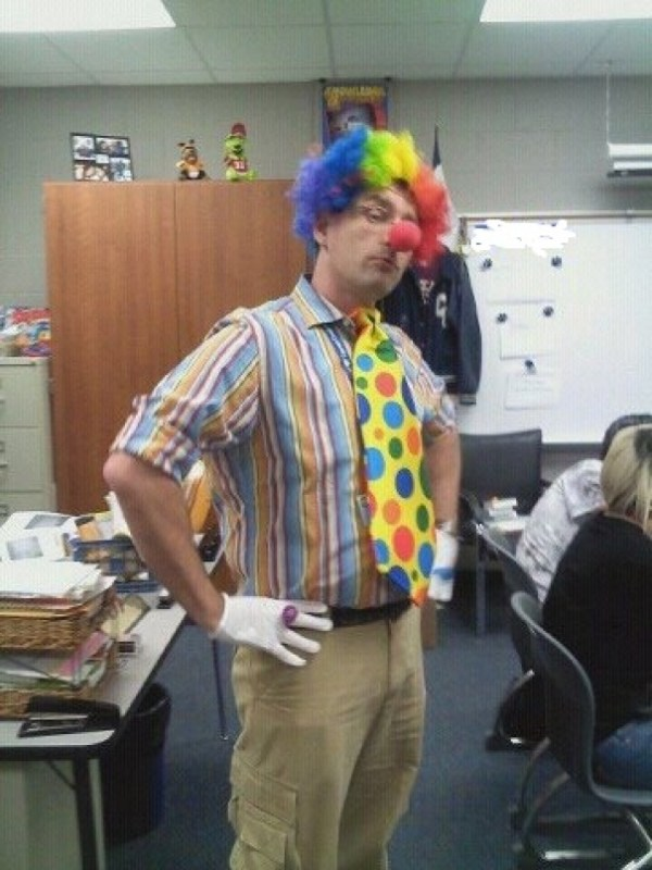 "This Is My Gay Teacher The Day After One Of His Students Said, ""I'm Glad Gays Can't Marry Here. They Scare Me, Kinda Like Clowns."""