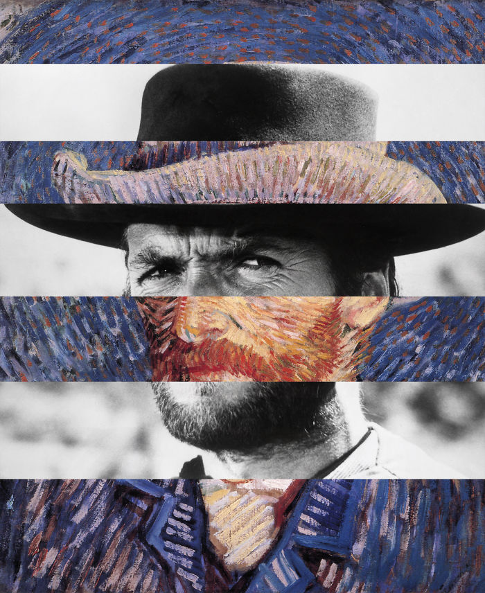 Van Gogh's Self Portrait And Clint Eastwood