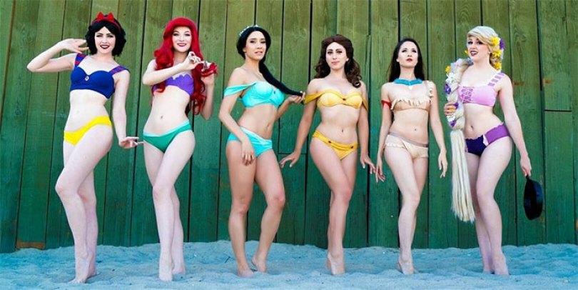 disney princess cosplay enchanted bikinis 58c95bb2eefed  700 - Princesas da Disney aproveitam o verão
