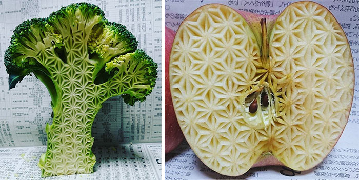 "10+ Unbelievable Food Carvings By Japanese Artist ""Gaku"""