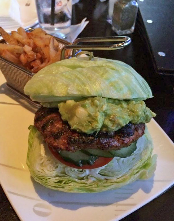 So I Ordered A Lettuce Burger Thinking It Would Come On Two Pieces Of Lettuce