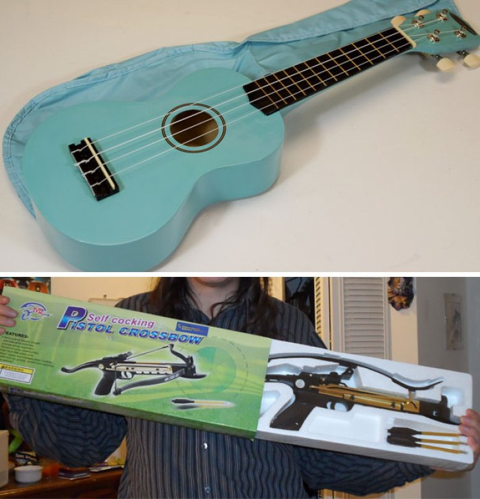 I Ordered A Powder Blue Ukulele For A 3-Year-Old For Christmas. I Don't Think They Got My Order Right