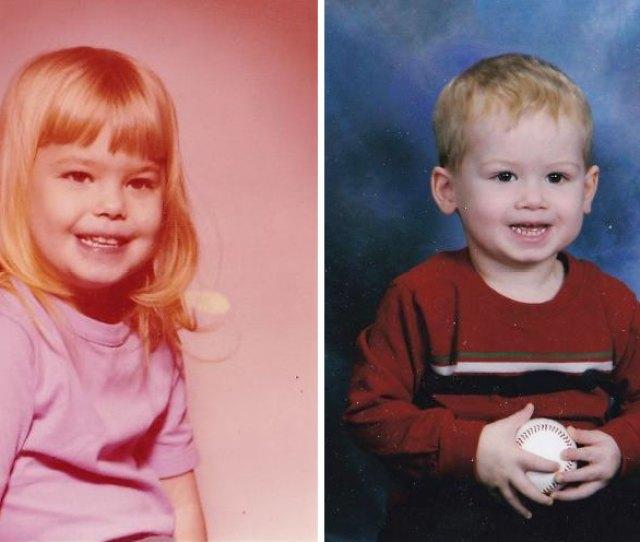 Mom And Son Both At Age 2