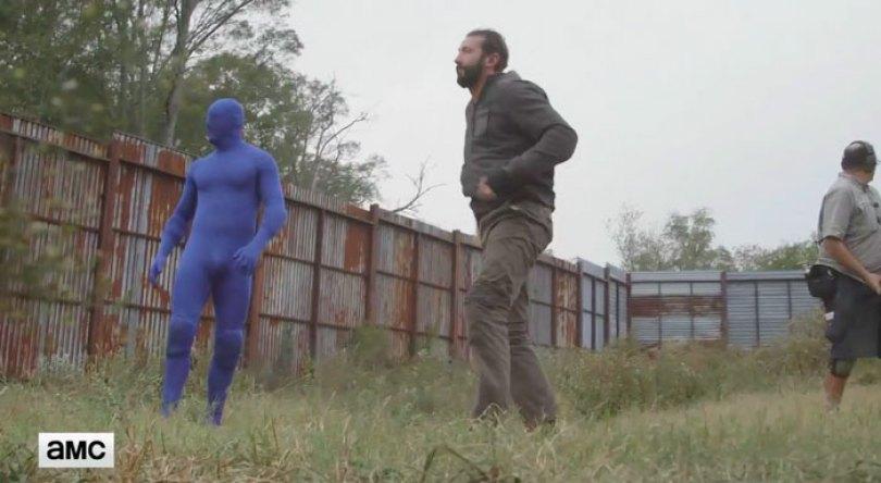 walking dead tiger man seven season shiva 12 - Veja como foi filmado esta cena do Tigre em The Walking Dead