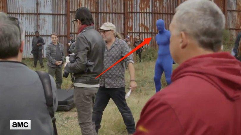 walking dead tiger man seven season shiva 13 - Veja como foi filmado esta cena do Tigre em The Walking Dead
