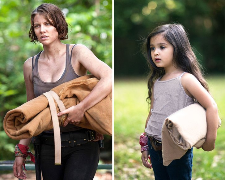 "Lauren Cohan As ""maggie"" And Scout"