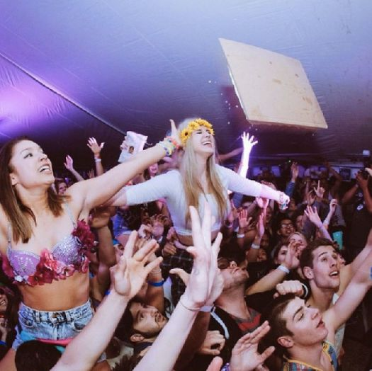 Getting Caked By Steve Aoki