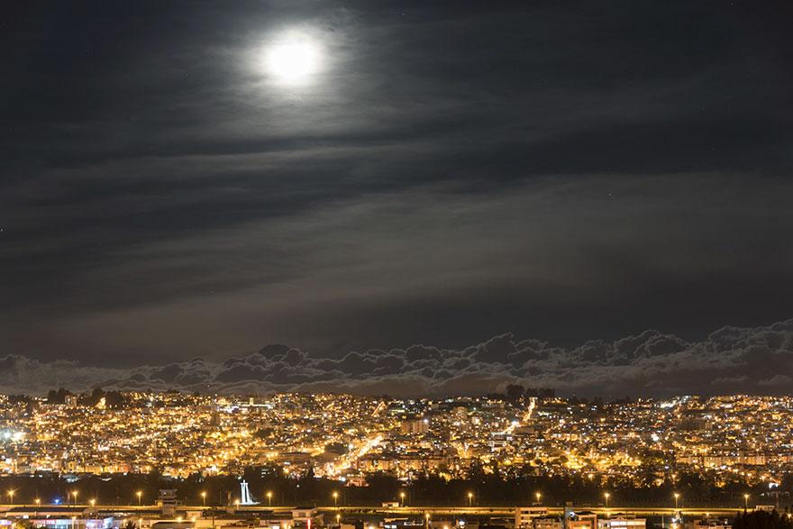 Mooning Around, Super Moon, At 2,900m In Quito, Ecuador