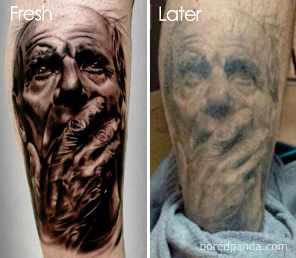how tattoos age over time