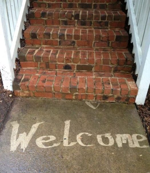 Wife Asked Me To Pressure Wash And Get A Welcome Mat. Nailed It