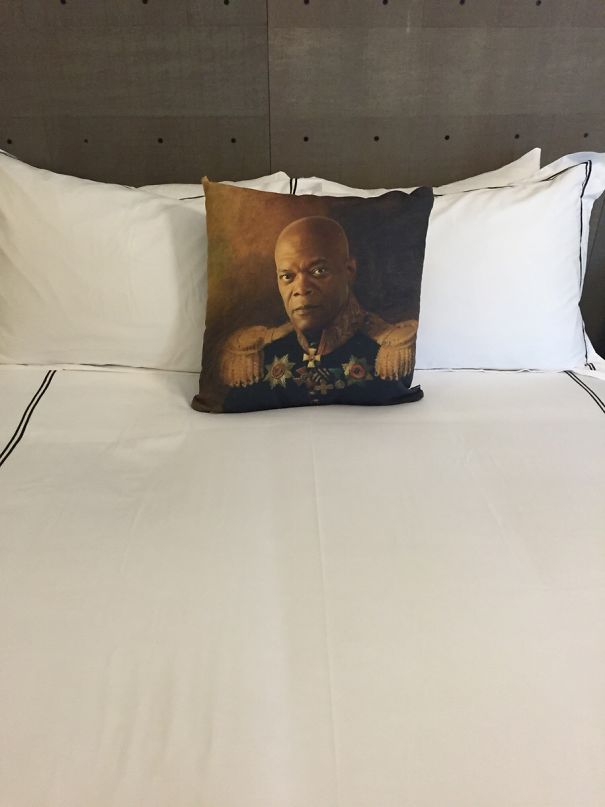 This Is On The Bed In My Hotel Room