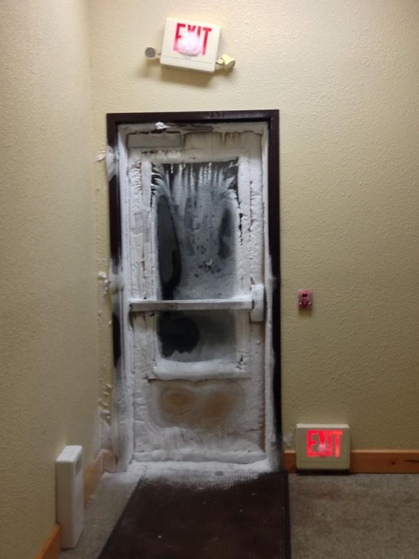So My Friend Is Staying At A Hotel In Minnesota Right Now. Needless To Say, It's Pretty Cold