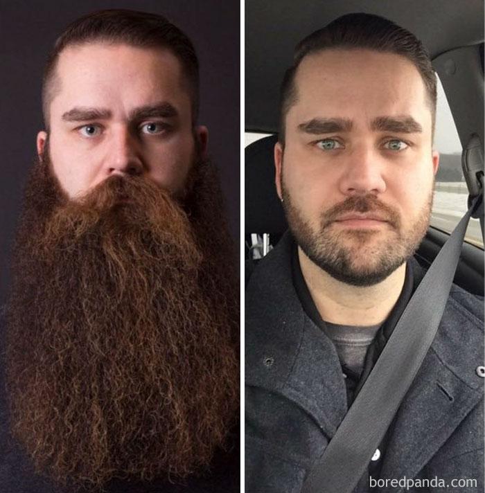 After 3 Years Of The Beard Life My Buddy Matt Shaved His Beard