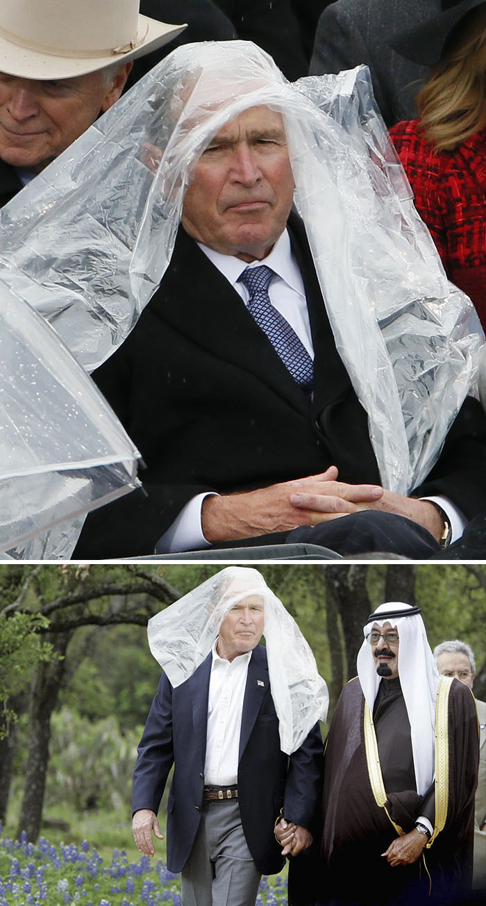 George W Bush At The Trump Inauguration