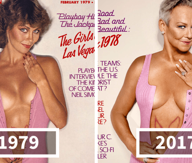 7 Playboys Playmates Recreate Their Own Magazine Covers Around 30 Years Later Bored Panda
