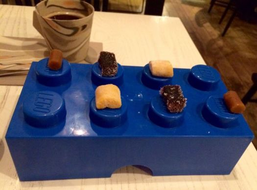 Sweets Served On An Oversized Piece Of Lego