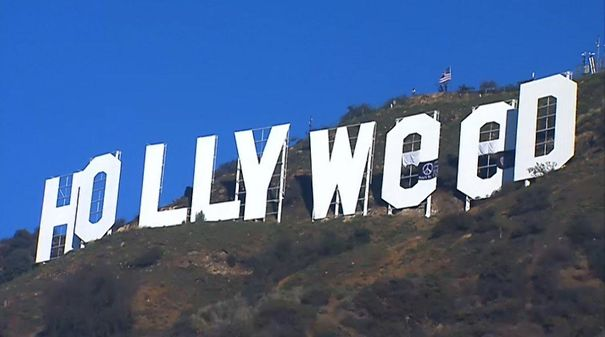 Prankster Alters Iconic Hollywood Sign To Read 'Hollyweed' As New Marijuana Law Begins In California