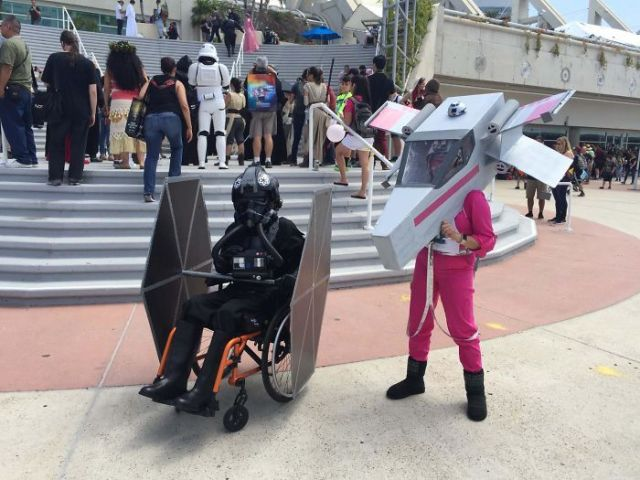 My Son's Wheelchair TIE Pilot Cosplay