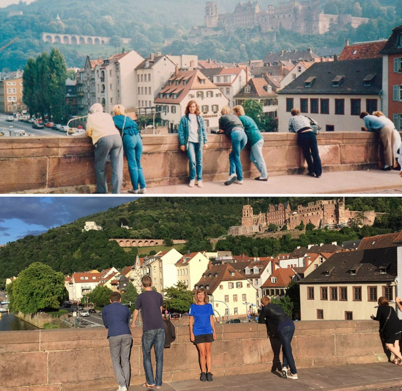 Then and Now Same Location 30 Years Later 5965d987cf1b9  880 - Mulher tira foto no mesmo lugar 30 anos depois