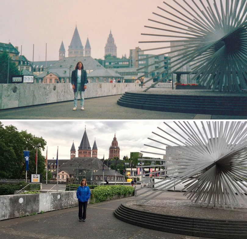 Then and Now Same Location 30 Years Later 5965d990a70c2  880 - Mulher tira foto no mesmo lugar 30 anos depois