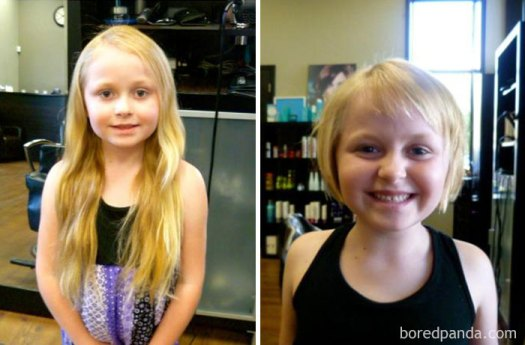 My 6-Year-Old Daughter Cut Off Over 13 Inches Of Her Hair To Donate