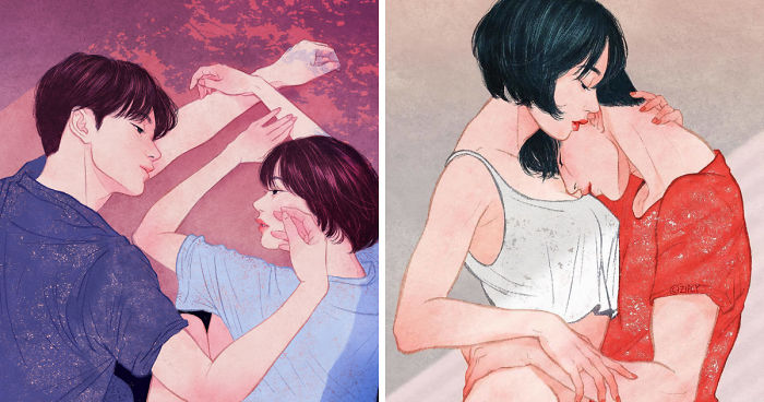 Korean Illustrator Captures Love And Intimacy So Well That You Can Almost Feel It