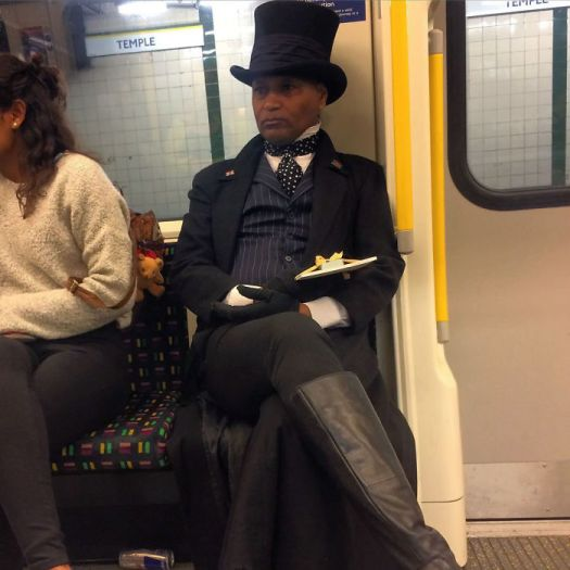 Well If You're Going On The Tube You Might As Well Look Dapper Doing It