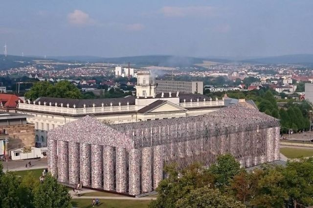 Artist Creates a Full-Size Parthenon Out of 100,000 Banned Books at Historic Nazi Book Burning Site | wisdompills.com
