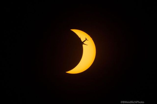 Got Extra Lucky With This Shot During The Eclipse!