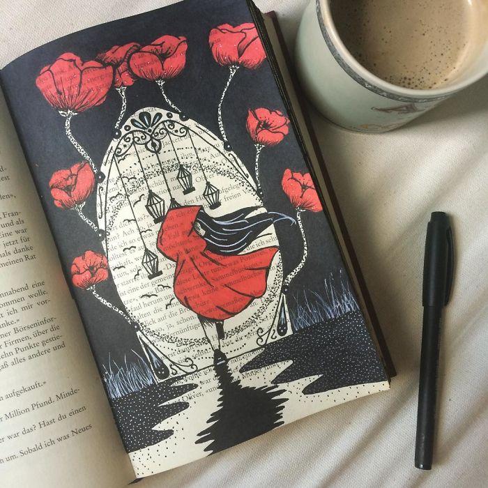 I Use Old Books To Create Art Bored Panda