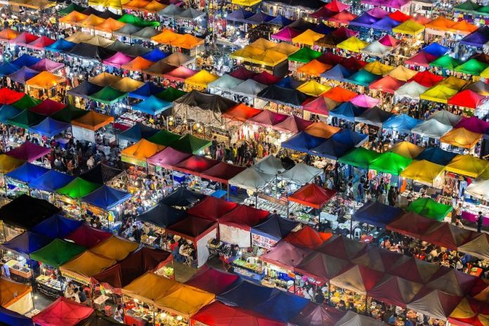 People's Choice Winner, Cities: Colorful Market, Bangkok, Thailand