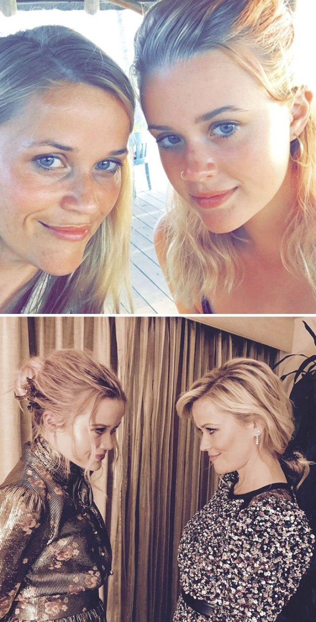 La Actriz Reese Witherspoon (41) Y Su Hija Ava Phillippe (17)