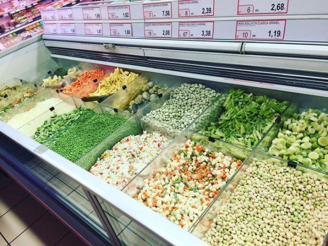 Pick 'N' Mix Frozen Veg In A Spanish Supermarket