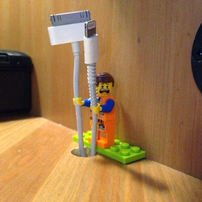 Use Legos As A Cable Holder