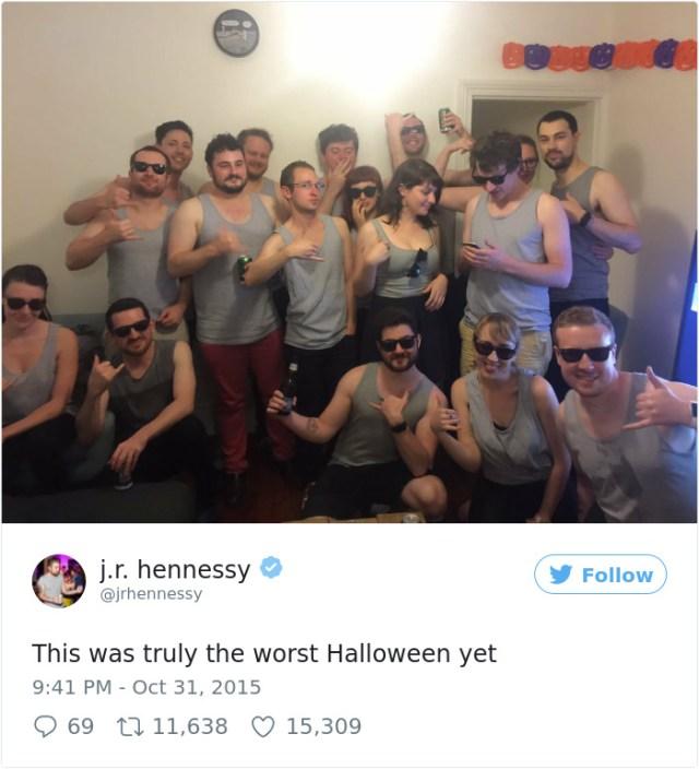 Hicimos una celebración de halloween y todos se disfrazaron de mi imagen en Twitter, vaya pesadilla