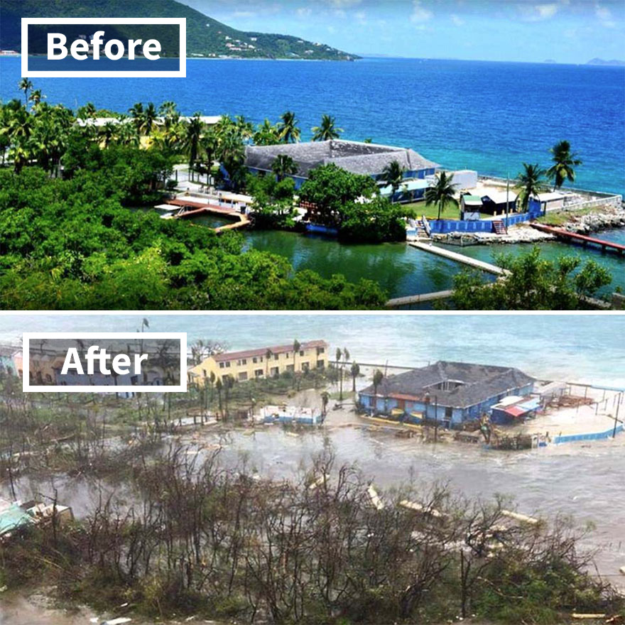 Dolphin Discovery Attraction On Tortola In The Virgin Islands (Before And After Irma Damage)