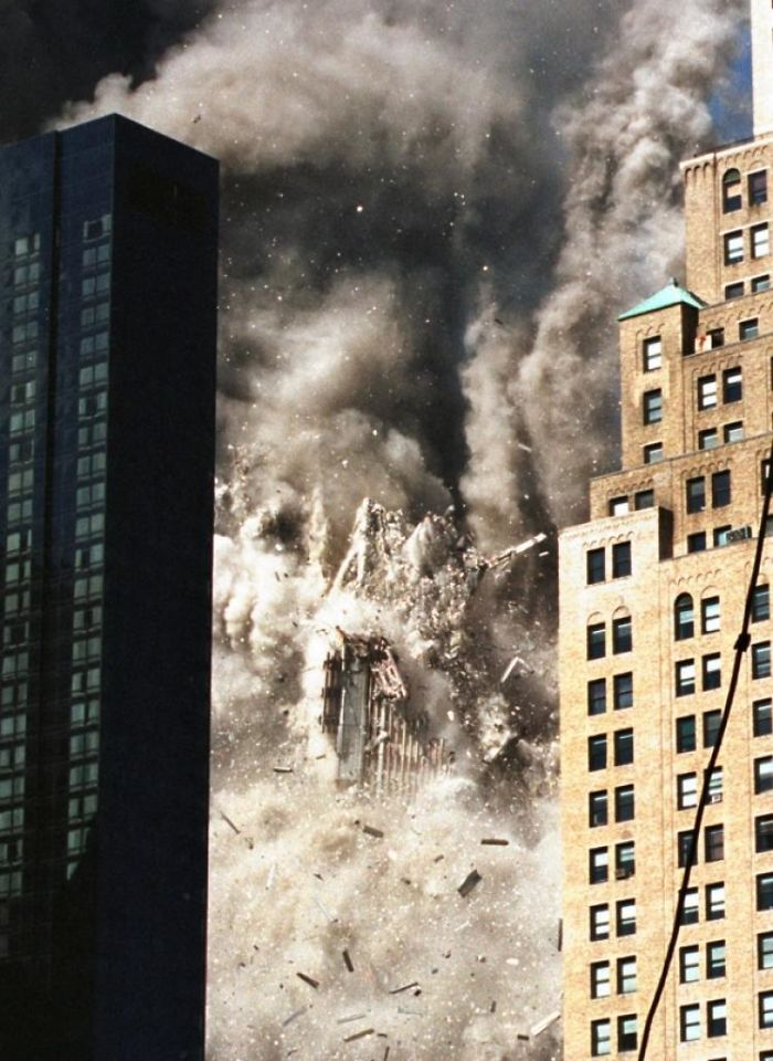 Several Buildings In The Trade Center Complex Collapsed Following A Terrorist Attack