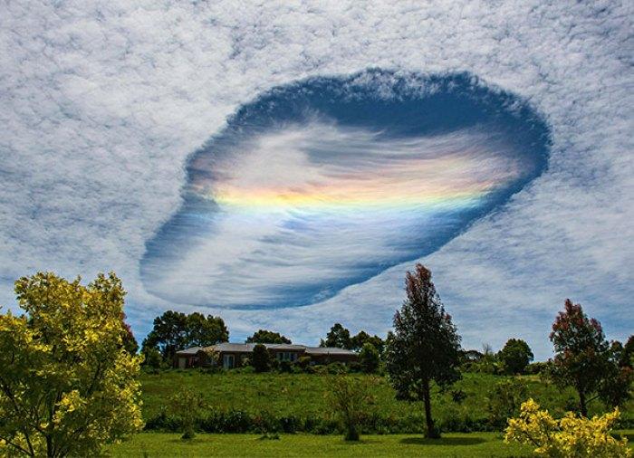 Rare Cloud Phenomenon Over Eastern Victoria, Australia