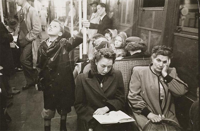 Passengers In A Subway Car, 1940s