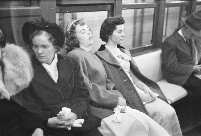 Women In A Subway Car, 1946