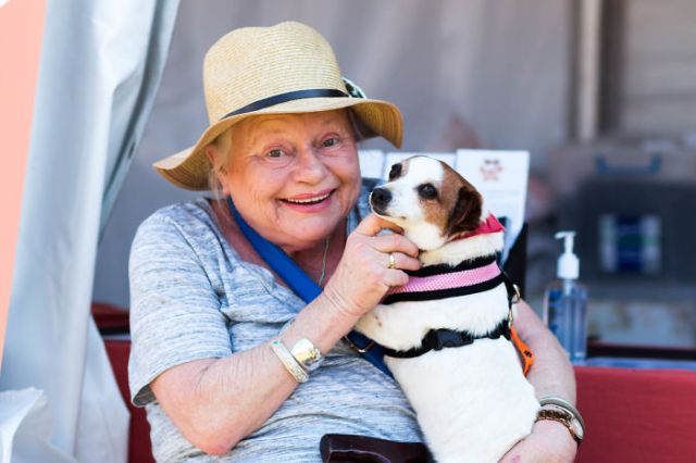 My Shelter Holds An Annual Dog Adoption Day In A Public Park. Seeing This Lady With Her New Best Friend Made My Day